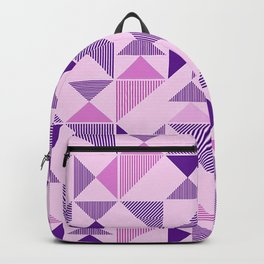 Purple Geometric Triangle Backpack