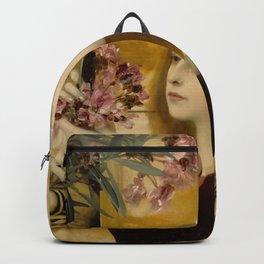 "Gustav Klimt ""Two Girls With An Oleander"" Backpack"