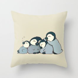 Pile of penguins Throw Pillow