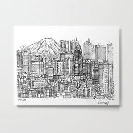 Tokyo 3 Metal Print