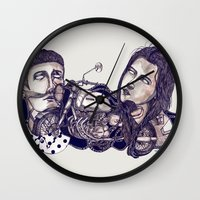 motorcycle Wall Clocks featuring motorcycle by 2choey