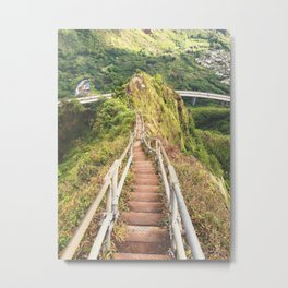 Haiku Stairs Metal Print