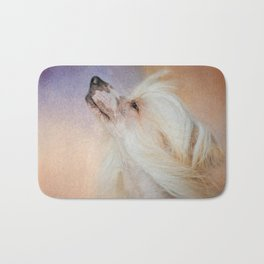 Wind In Her Hair - Chinese Crested Hairless Dog Bath Mat