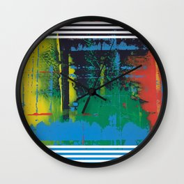Color Chrome - Line graphic Wall Clock