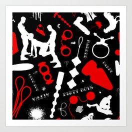 Dirty Boys Pattern Art Print