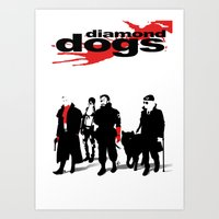 Diamond Dogs Art Print