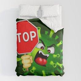 Stop Evil Virus Pandemic Comforters