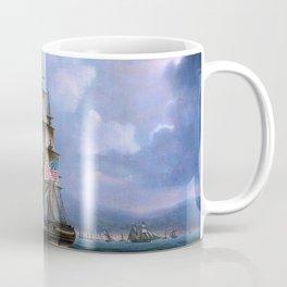 Hms Shannon Boards Uss Chesapeake Off Boston - Thomas Buttersworth Coffee Mug