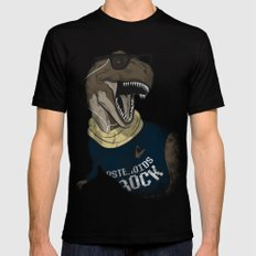 Hipstereosaurus Rex Mens Fitted Tee Black MEDIUM