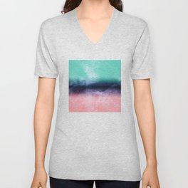 Modern watercolor abstract paint Unisex V-Neck