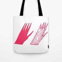 Hand and glove Tote Bag