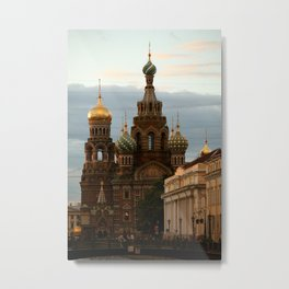 CHURCH OF OUR SAVIOR ON THE SPILLED BLOOD-SAINT PETERSBURG, RUSSIA  Metal Print
