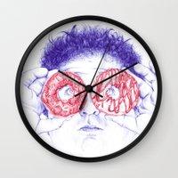 hero Wall Clocks featuring Hero by Bomburo