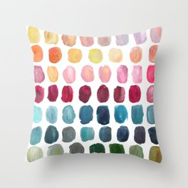 Color Palette Throw Pillow