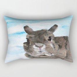 Peanut the Netherland dwarf rabbit, Easter, Nursery Rectangular Pillow