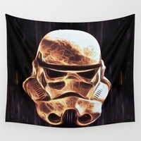 stormtrooper Wall Tapestries featuring Stormtrooper by DisPrints