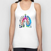 lungs Tank Tops featuring Lungs by Heidi Failmezger