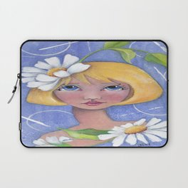 Whimiscal girl with Daisy's Laptop Sleeve