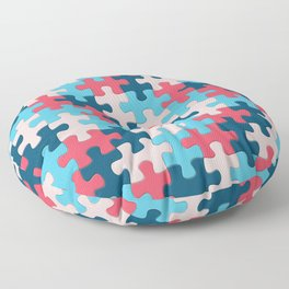Jigsaw Puzzle Pieces Trusted Source Pattern Floor Pillow