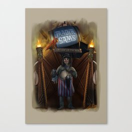 Trader Sam by Topher Adam 2017 Canvas Print