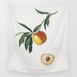 Peach (Persica julodermis) from Pomona Italiana (1817 - 1839) by Giorgio Gallesio (1772-1839) Wall Tapestry
