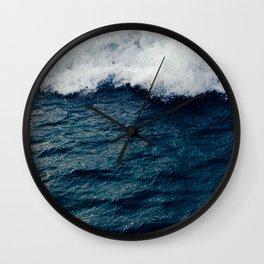 Deep Blue Ocean Wave Wall Clock