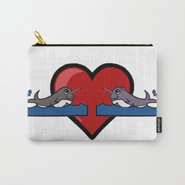 Narwhal Couple Carry-All Pouch