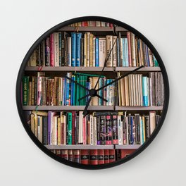 Library books Wall Clock
