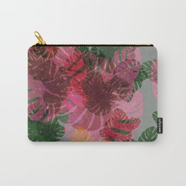 Neon Monstera Carry-All Pouch