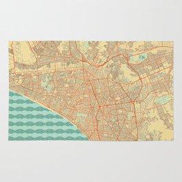 Lima Map Retro Rug