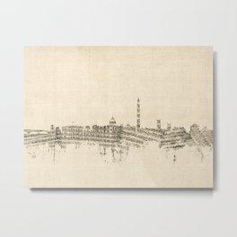Washington DC Skyline Sheet Music Cityscape Metal Print