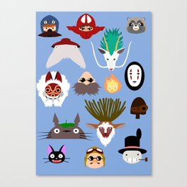 The many faces of Ghibli Canvas Print