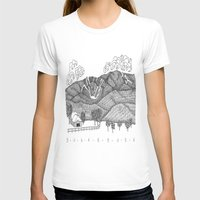vermont T-shirts featuring Zentangle Sugarbush, Vermont by Vermont Greetings