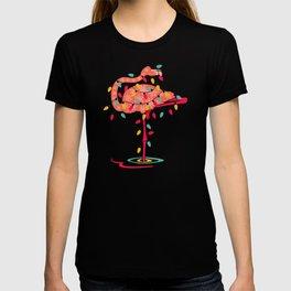 flamingo lights T-shirt