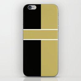 Team Color 6...black,gold iPhone Skin