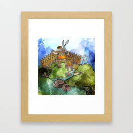 David & Goliath Watercolour Painting Framed Art Print