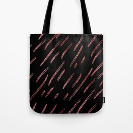 rose gold stripes Tote Bag