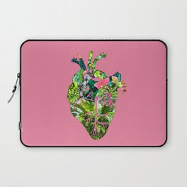 Botanical Heart Pink Laptop Sleeve
