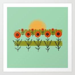 Poppy Fields Art Print
