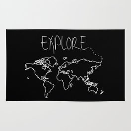 Explore World Map Rug