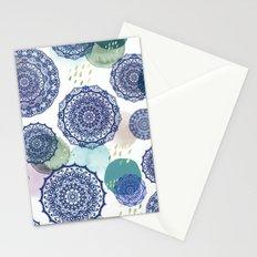 Fall Love Mandala in Blue Stationery Cards