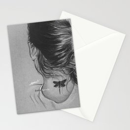 Lauren Jauregui Dragonfly Tattoo Sketch Stationery Cards