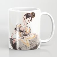 vogue Mugs featuring Vogue Ballerina! by Katia Grifols