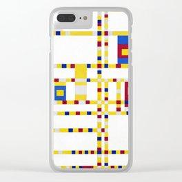 Piet Mondrian Broadway Boogie Woogie Clear iPhone Case