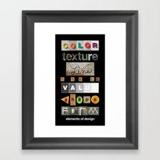 the elements of design Framed Art Print