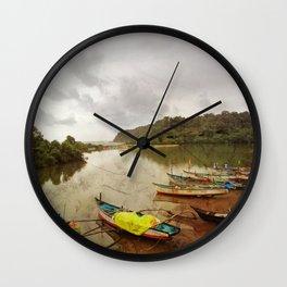 Fishing port in Goa, India Wall Clock