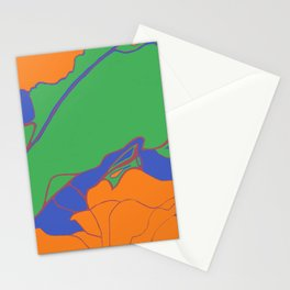 Leaf in Bright Green Stationery Cards