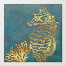 Deep Sea Life Seahorse Canvas Print