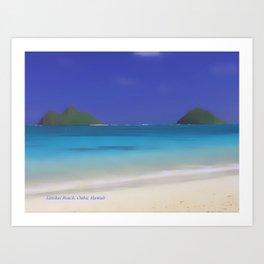 Lanikai Beach #2 Art Print