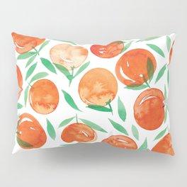 Winter Oranges   White Background Pillow Sham